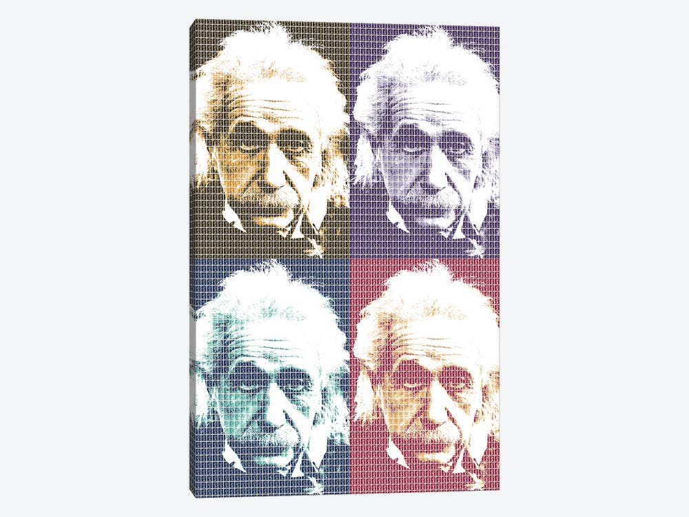 Einstein X 4 by Gary Hogben 1-piece Canvas Wall Art