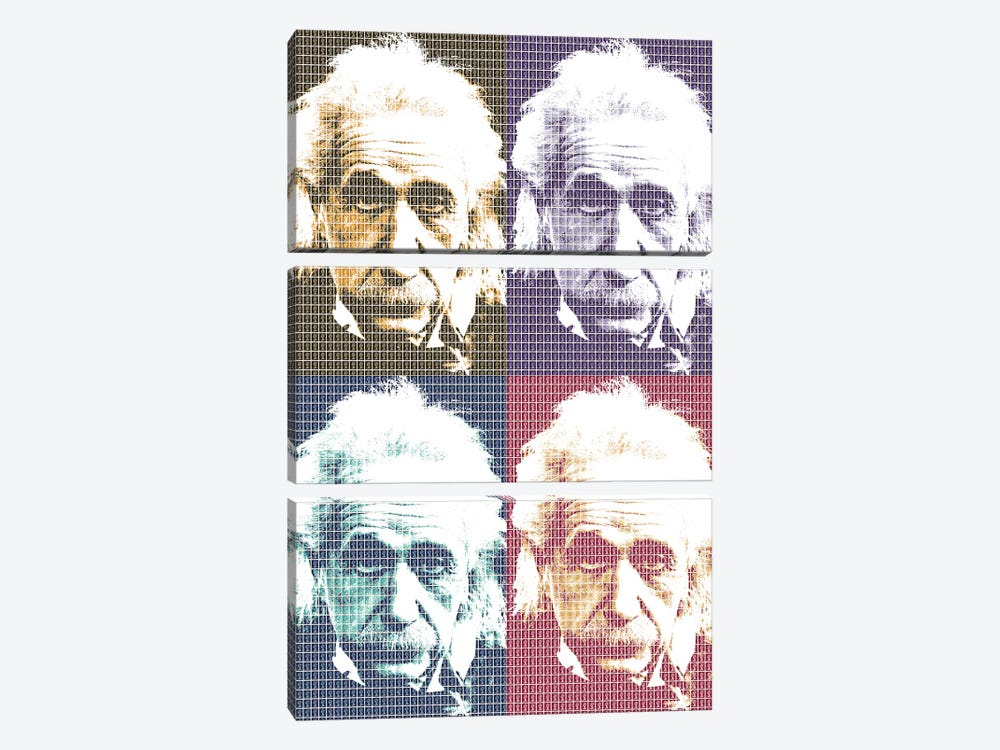 Einstein X 4 by Gary Hogben 3-piece Canvas Artwork