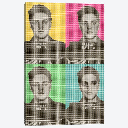 Elvis Army Mug Shot X 4 3-Piece Canvas #GHO14} by Gary Hogben Canvas Art Print