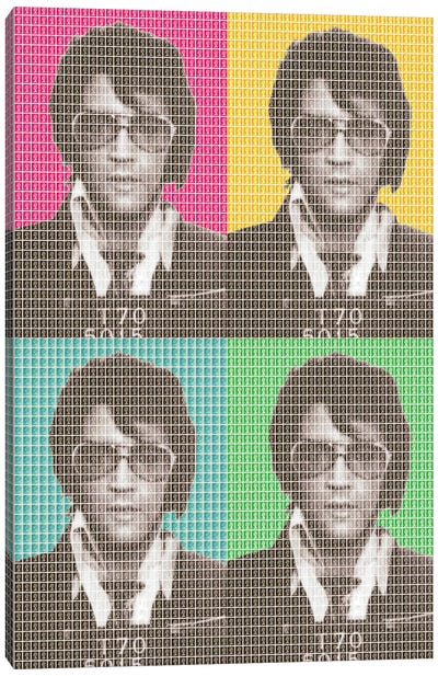 Elvis Mug Shot X 4 Canvas Art Print