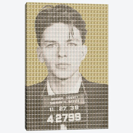 Frank Sinatra Mug Shot - Gold Canvas Print #GHO16} by Gary Hogben Canvas Print