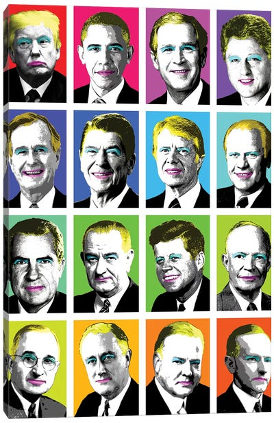 16 Presidents Canvas Art Print