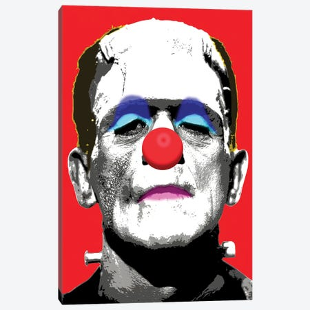 Frankie Boo - Red Canvas Print #GHO26} by Gary Hogben Canvas Art