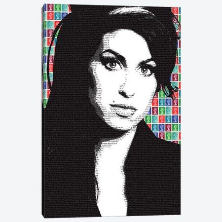 Amy Winehouse Canvas Print #GHO2} by Gary Hogben Art Print