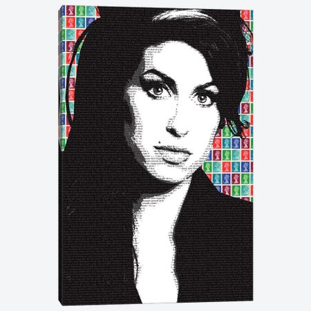Amy Winehouse 3-Piece Canvas #GHO2} by Gary Hogben Art Print