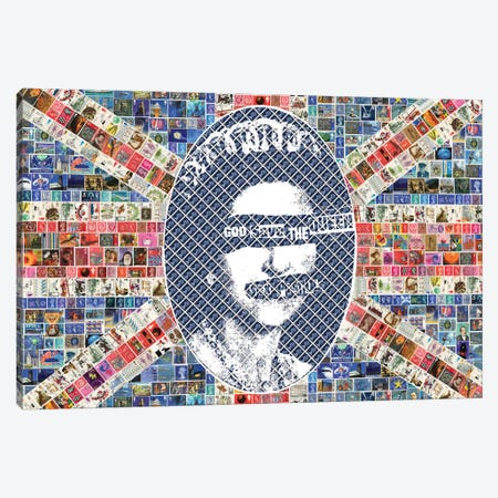 God Save The Queen Canvas Print #GHO36} by Gary Hogben Canvas Art Print