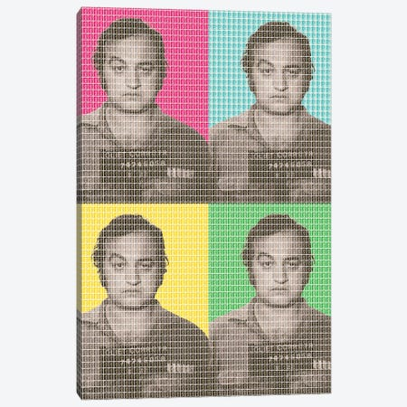 Jake Blues Mug Shot X 4 Canvas Print #GHO37} by Gary Hogben Canvas Art Print