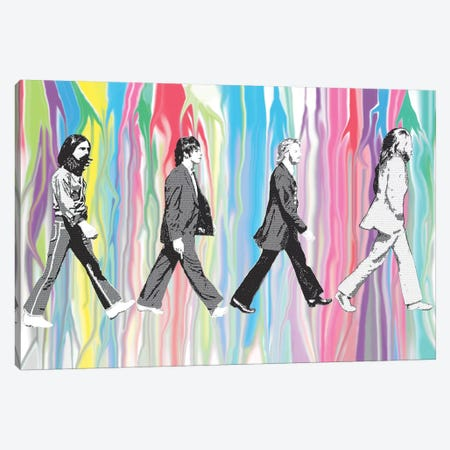 Beatles - Abbey Road 3-Piece Canvas #GHO3} by Gary Hogben Art Print