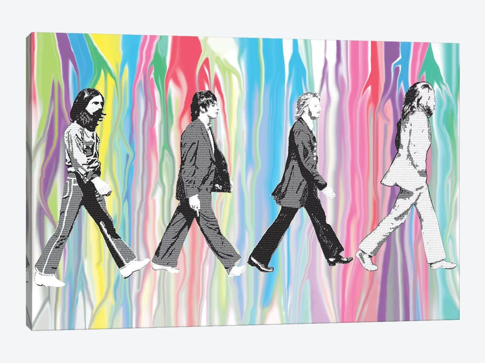 Beatles - Abbey Road by Gary Hogben 1-piece Canvas Artwork
