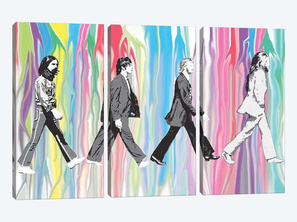 Beatles - Abbey Road by Gary Hogben 3-piece Canvas Art
