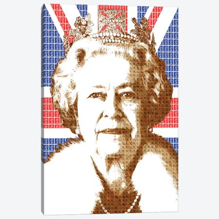 Liz - Flag Canvas Print #GHO40} by Gary Hogben Canvas Print