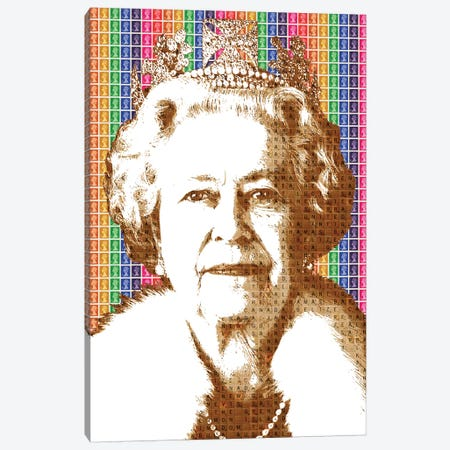 Liz - Rainbow Canvas Print #GHO41} by Gary Hogben Art Print