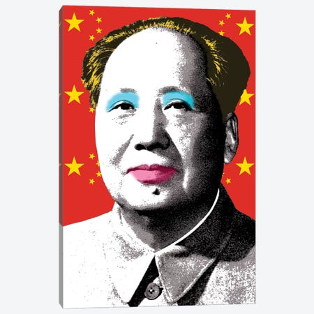 Marilyn Mao - Flag Canvas Print #GHO45} by Gary Hogben Canvas Wall Art