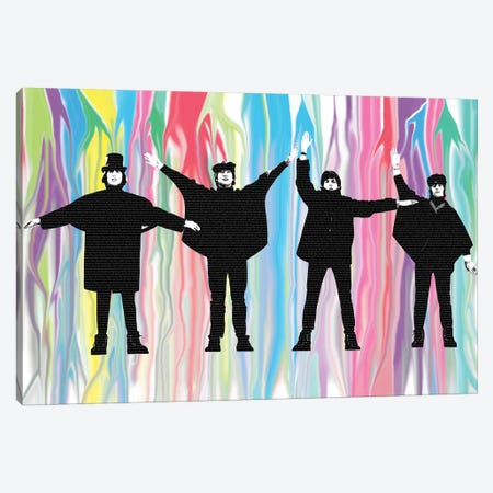Beatles Help 3-Piece Canvas #GHO4} by Gary Hogben Canvas Art
