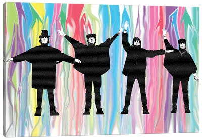 Beatles Help Canvas Art Print