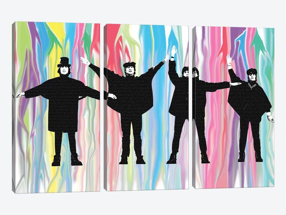 Beatles Help by Gary Hogben 3-piece Canvas Print
