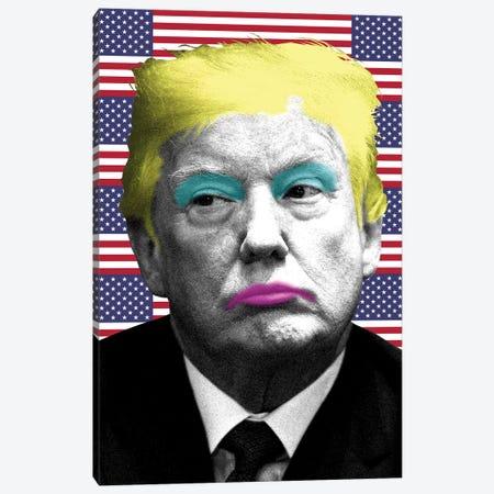 Marilyn Trump - Flag Canvas Print #GHO50} by Gary Hogben Canvas Art
