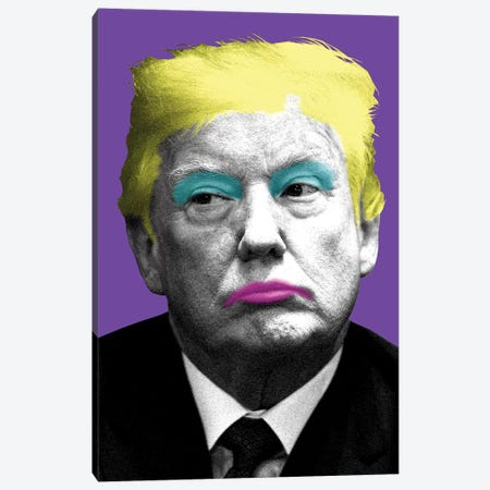 Marilyn Trump - Purple Canvas Print #GHO54} by Gary Hogben Canvas Art Print
