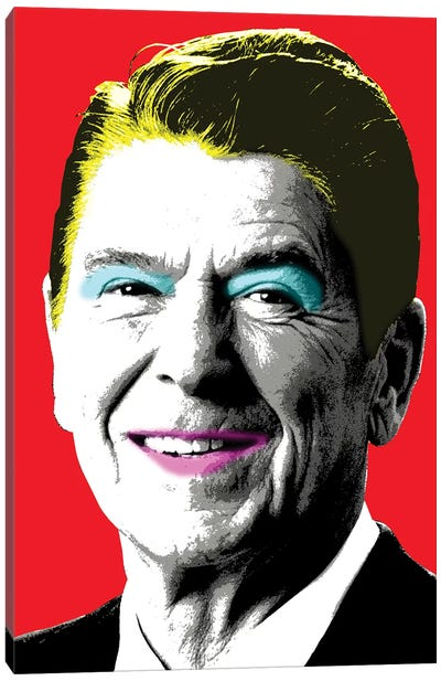 Nancy Reagan - Red Canvas Art Print