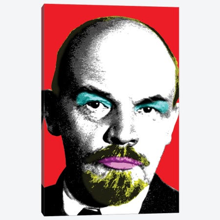 Ooh Mr Lenin - Red Canvas Print #GHO59} by Gary Hogben Canvas Artwork