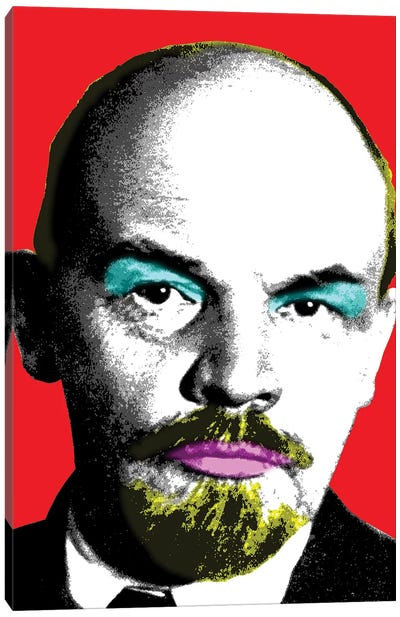 Ooh Mr Lenin - Red Canvas Art Print