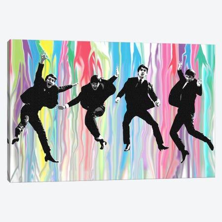 Beatles Jump Canvas Print #GHO5} by Gary Hogben Canvas Wall Art