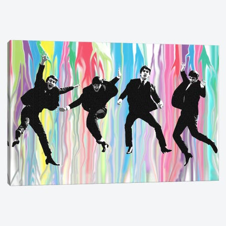 Beatles Jump 3-Piece Canvas #GHO5} by Gary Hogben Canvas Wall Art