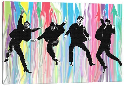 Beatles Jump Canvas Art Print