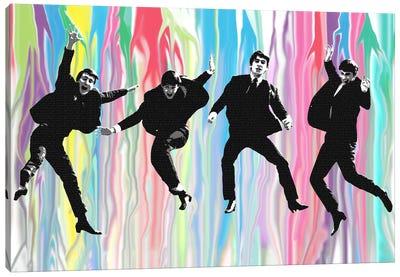 Beatles Jump Canvas Art Print