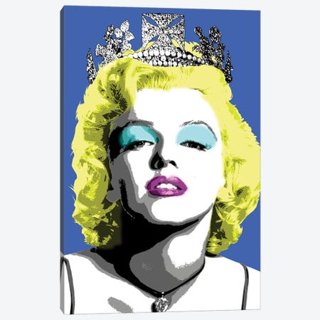Queen Monroe - Blue Canvas Print #GHO66} by Gary Hogben Canvas Wall Art