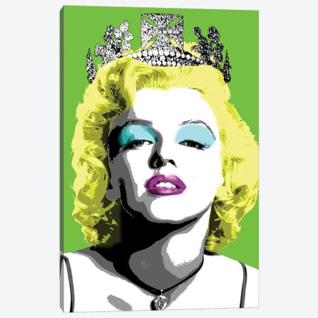 Queen Monroe - Lime Canvas Print #GHO67} by Gary Hogben Canvas Art