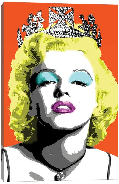 Queen Monroe - Orange Canvas Art Print