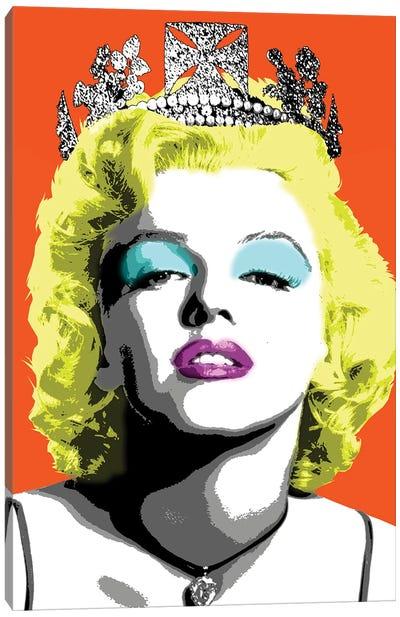 Queen Monroe - Orange Canvas Art Print