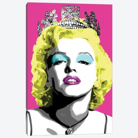Queen Monroe - Pink Canvas Print #GHO69} by Gary Hogben Art Print