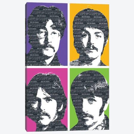 Beatles X 4 Canvas Print #GHO6} by Gary Hogben Canvas Wall Art