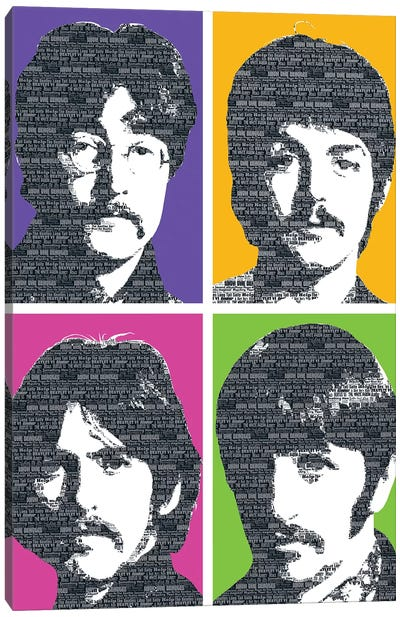 Beatles X 4 Canvas Art Print