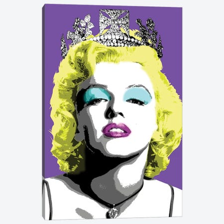 Queen Monroe - Purple Canvas Print #GHO70} by Gary Hogben Canvas Art