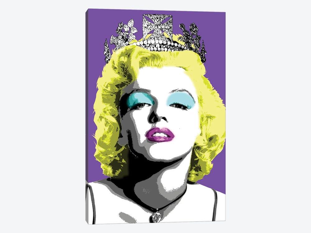 Queen Monroe - Purple by Gary Hogben 1-piece Canvas Print