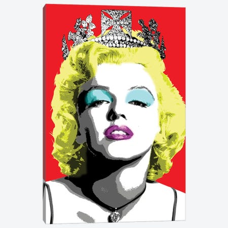 Queen Monroe - Red Canvas Print #GHO71} by Gary Hogben Canvas Artwork