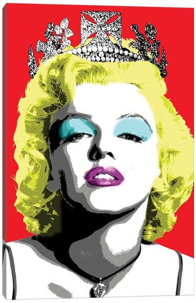 Queen Monroe - Red Canvas Art Print