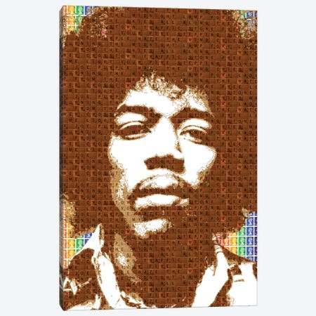 Scrabble Hendrix Canvas Print #GHO78} by Gary Hogben Canvas Art