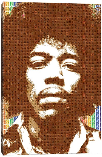 Scrabble Hendrix Canvas Art Print