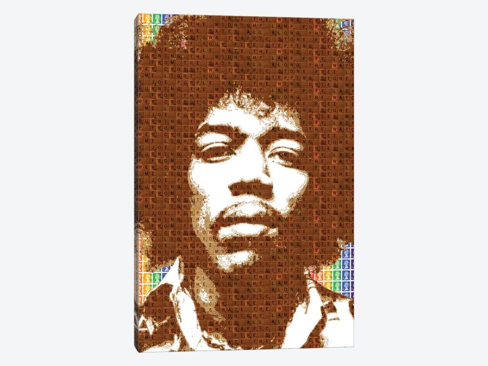 Scrabble Hendrix by Gary Hogben 1-piece Canvas Art Print