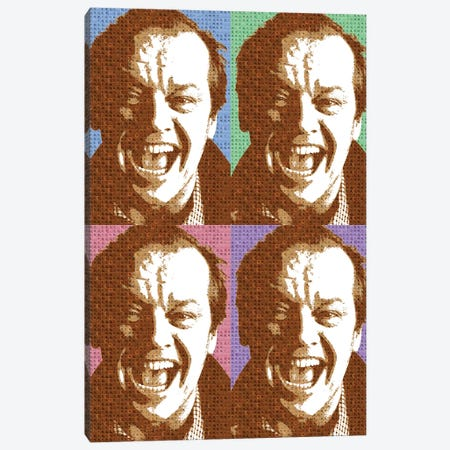 Scrabble Jack Nicholson X 4 Canvas Print #GHO79} by Gary Hogben Canvas Art
