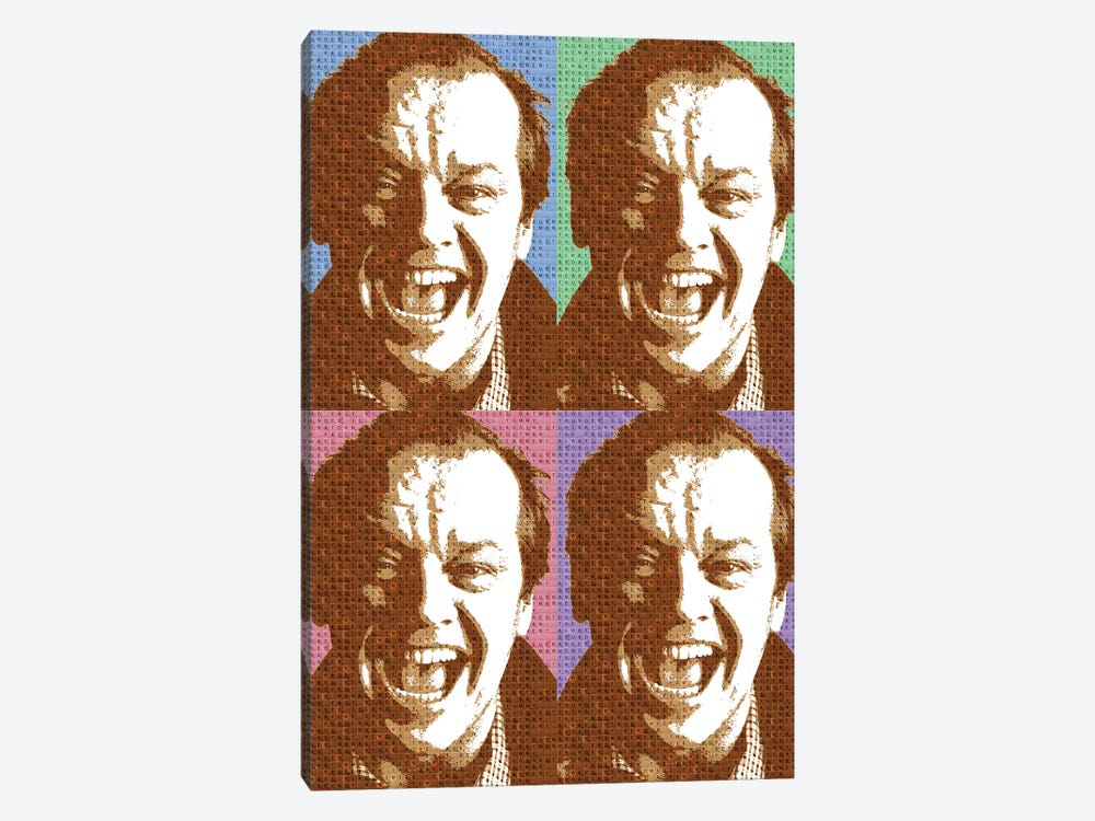 Scrabble Jack Nicholson X 4 by Gary Hogben 1-piece Canvas Wall Art