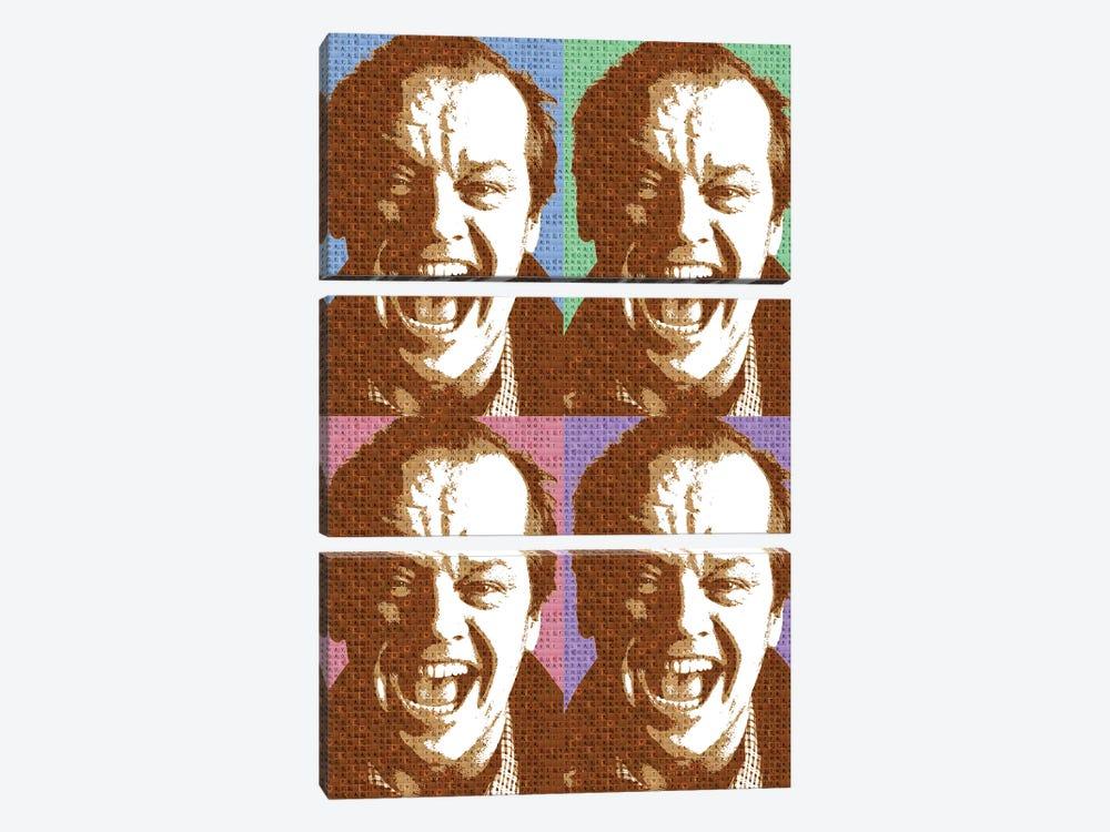 Scrabble Jack Nicholson X 4 by Gary Hogben 3-piece Canvas Wall Art