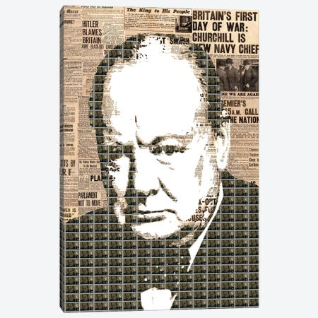 Churchill Canvas Print #GHO7} by Gary Hogben Canvas Artwork