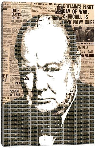 Churchill Canvas Art Print