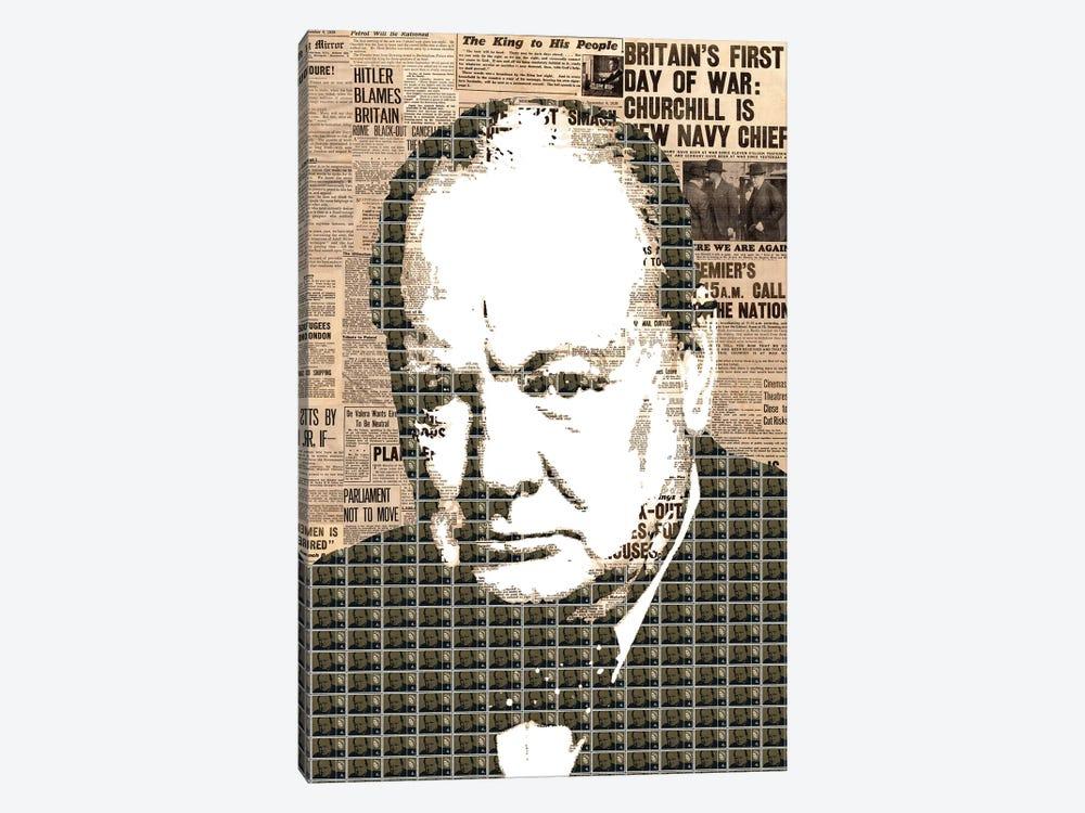 Churchill by Gary Hogben 1-piece Canvas Artwork