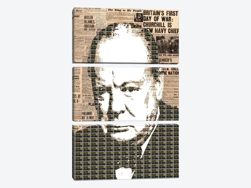 Churchill by Gary Hogben 3-piece Canvas Wall Art